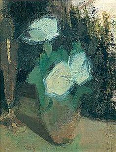 White roses by Helen Schjerfbeck Helene Schjerfbeck, Helsinki, Vintage Artwork, Abstract Flowers, Abstract Expressionism, Female Art, Bonsai, Flower Art, Still Life