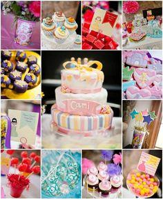 Disney Princess Party (Lots of cute ideas!) via Kara's Party Ideas Disney Princess Birthday Party, Disney Princess Party, Tea Party Birthday, 4th Birthday Parties, 1st Birthday Girls, Birthday Ideas, Childrens Party, Princesas Disney, Party Planning
