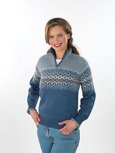 Ravelry: Engø genser pattern by Trine Lise Høyseth Loom Knitting Patterns, Knitting Stitches, Knitting Socks, Free Knitting, Stitch Patterns, Knitting Tutorials, Fair Isle Knitting, Garter Stitch, Vintage Knitting