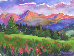 Colorado Landscapes | Pam Furumo | Rocky Mountain Watercolors