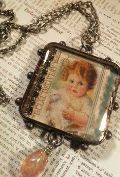 Special Deliver Pendant A Resin Filled Pendant by KenOliverCrafts, $45.00
