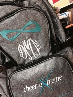 embroidered nfinity backpack