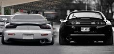 Toyota Supra and Mazda RX7 FD
