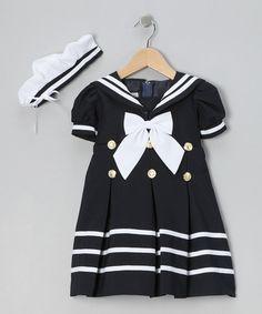 Look at this #zulilyfind! Navy Mariner Dress & Hat - Infant, Toddler & Girls by LA Sun #zulilyfinds