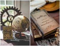 Megan & Oliver's DIY Detail-Rich Victorian Steampunk Wedding   Poptastic Bride