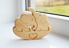 Puzzle Toy elephant - Wooden Puzzle elephant - Educational toys - Wooden Swing - Kids gifts - Animal puzzle - elephant Family ------------------------------------------------------------------------------------------------------  Made to order -------------------------------------------------------------------------------------------------------  These are elephant Family are both fun and educational and were made to develop kids logical thinking and encourages creative play. Mommy elephant…
