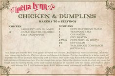 Celebrate the 25 days of Christmas with Loretta Lynn! Open today's date to unwrap a 'White Christmas Blue' surprise www. Retro Recipes, Old Recipes, Vintage Recipes, Cookbook Recipes, Meat Recipes, Chicken Recipes, Cooking Recipes, Recipies, Crisco Recipes