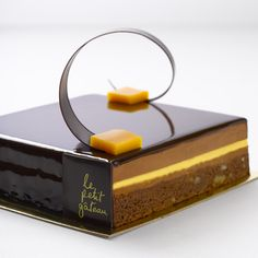 Passionfruit Brownie Gateau by Pierrick Boyer at Le Petit Gateau - I can't describe it, you gotta try it!