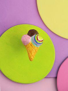 Ice cream drawer pull fun knob for kids furniture  от gumcrackkids