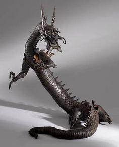 自在置物 Jizai Okimono from Edo period (1603~1868), Japan  - Jizai Okimono are realistically shaped figures of animals made from iron, copper. Their bodies and limbs are articulated, and can be moved like real animals.