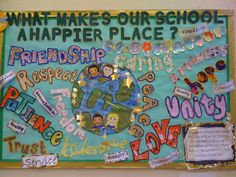 School a happier place Display classroom display class display Ourselves school a happier place friend Early Years (EYFS) Primary Resources Primary School Displays, Class Displays, Class Rules Display, Teaching Displays, Maths Display, Ks2 Classroom, Primary Classroom, Year 6 Classroom, Classroom Ideas