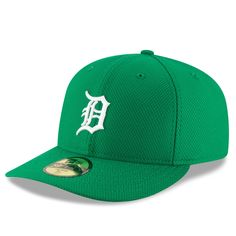 Men's Detroit Tigers New Era Green St. Patrick's Day Diamond Era Low Profile 59FIFTY Fitted Hat