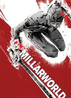 THE ART OF MILLARWORLD HC introduction MARK MILLAR cover JOCK featured artwork and interviews JOHN ROMITA JR., J.G. JONES, LEINIL YU, FRANK ...