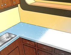 How to paint countertops