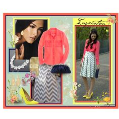 Chevron Striped Skirt