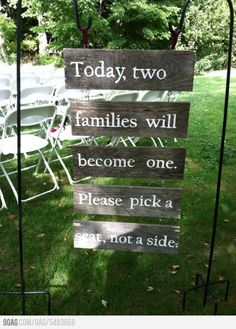 You Know Desi Weddings have some type of drama, so this sign will keep that out!