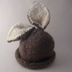 Briar Bunny Hat by AllinStitches: Knit to order. $40 #Hat #Kids #Bunny