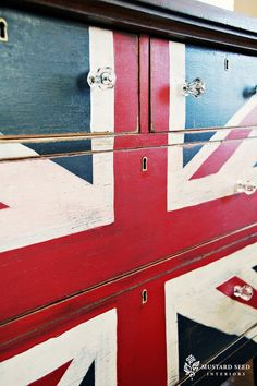 Union jack chest of drawers British Fever: DIYs Inspired by the Union Jack