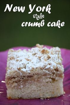 New York Style Crumb Cake