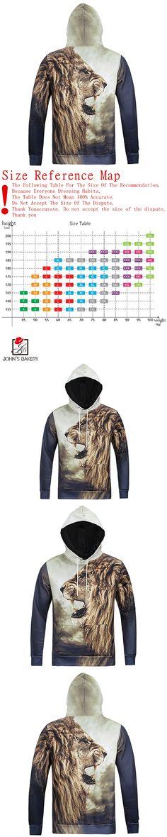2017 New Fashion Hoodies Brand Men Lion Printing Sweatshirt Malemen'S Sportswear Hoody Hip Hop Autumn Winter Hoodie 3D XXL 24876