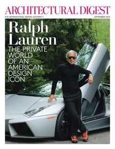 Cover of Sept issue of AD celebrating 30 years of Ralph Lauren Home
