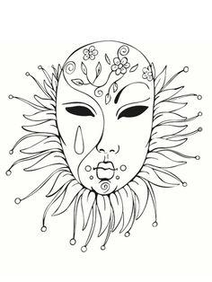 Coloriage Masque de Venise - Bing Images