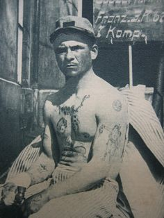 Frenchman with a tattoo of an Ottoman soldier holding a German soldier's head.