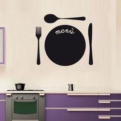 """lavagnetta decorativa da parete """"Menù"""" scrivibile con gessetti, adesiva adatta a tutte le superfici sufficientemente lisce"""