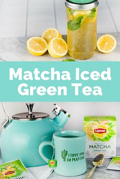 You will love the new Lipton Matcha Green Teas! Check it out at http://lbx.la/pJPR This recipe is for Matcha Iced Green Tea and it is delicious! #LiptonMatcha #ad  tea, green tea, matcha, drink up, healthy, tasty, summer, cold drink, eat to make