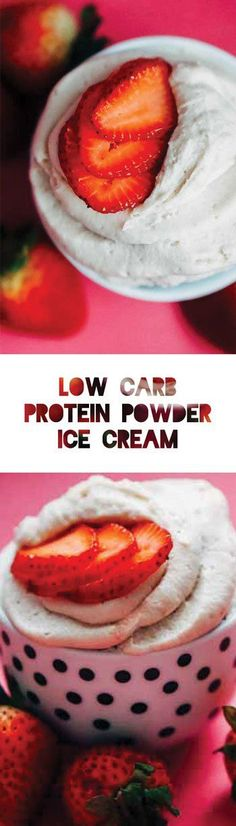 Low Carb Ice Cream with Protein Powder