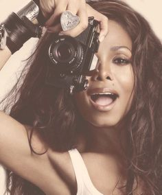 Janet Jackson with camera