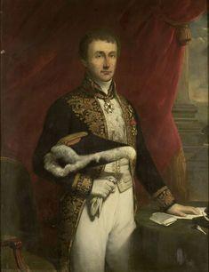 Portret van Pieter Merkus (1787-1844). Gouverneur-generaal (1841-44). Onderdeel van een reeks van portretten van de gouverneurs-generaal van het voormalige Nederlands Oost-Indië. 1844-1851