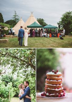 Koek A Beautiful Bohemian Back Garden English Wedding With A Silk Charlie Brear Dress With Lace Cap Sleeves And Flower Crowns From Rhys Parker Ph. Foto Wedding, Tipi Wedding, Garden Wedding, Wedding Flowers, Wedding Venues, Wedding Stuff, Wedding Cakes, Wedding Ideas, Marchesa Wedding Dress