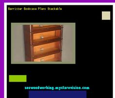 Barrister Bookcase Plans Stackable 080835 - Woodworking Plans and Projects!