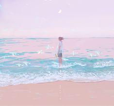 see how it lights you up Pretty Art, Cute Art, Aesthetic Art, Aesthetic Anime, Pixiv Fantasia, Japon Illustration, Anime Scenery, Aesthetic Wallpapers, Art Inspo