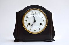 1950s Smiths Enfield Striking Clock Bakelite Mantel Clock Art Deco Clock Vintage Mantel Clock Vintage Lounge Clock Vintage Home Decor by FillyGumbo