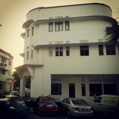 Retro Singapore buildings
