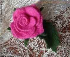 Мастер-класс по мокрому валянию: Роза из шерсти цельноваляная