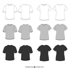 T-Shirt Vector Template Illustrator | Vector T-Shirt Templates ...