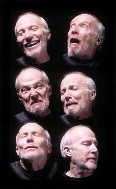 "BILL VIOLA    American, born 1951    Six Heads, 2000, from ""The Passions"""