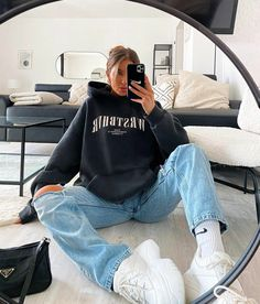 Fashion Mode, Teen Fashion Outfits, Swag Outfits, Mode Outfits, Retro Outfits, Cute Casual Outfits, Fall Outfits, Sweat Streetwear, Style Streetwear