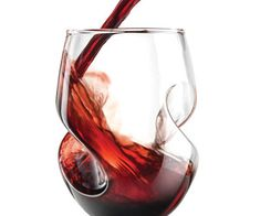 Aerating Stemless Wine Gles Vintage Red Flute