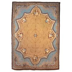 French Art Nouveau Savonnerie Carpet | From a unique collection of antique and modern western european rugs at https://www.1stdibs.com/furniture/rugs-carpets/western-european-rugs/