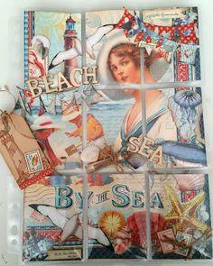 Creative Thoughts Vintage Seaside POCKET LETTER.