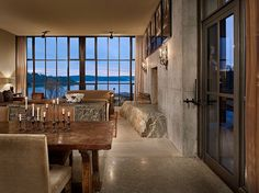 Steel, wood, stone, concrete and glass at their most harmonious.     The Pierre by Olson Kundig Architects