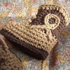 Crocheted cowboy boots