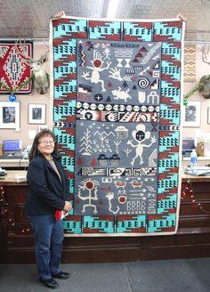 Native American Rugs, Native American Pictures, Native American Crafts, Native American Design, Native American History, American Indians, American Women, Navajo Weaving, Navajo Rugs