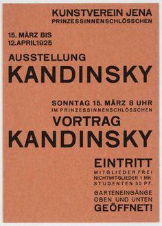 MoMA | The Collection | Walter Dexel. Ausstellung Kandinsky. 1925