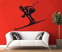 Wall Decal Vinyl Sticker Skis Sky Jumps Football Hockey Bedroom Living Room B379 CreativeWallDecals http://www.amazon.com/dp/B00XKZS07C/ref=cm_sw_r_pi_dp_M5vzvb1WV6D3E