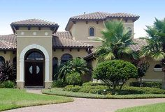 Mediterranean Style Home - just about the same as a spanish style house - just depends on the word you use